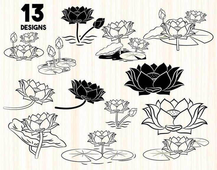Lotus bundle svglotus svglotus flower svgflower svg