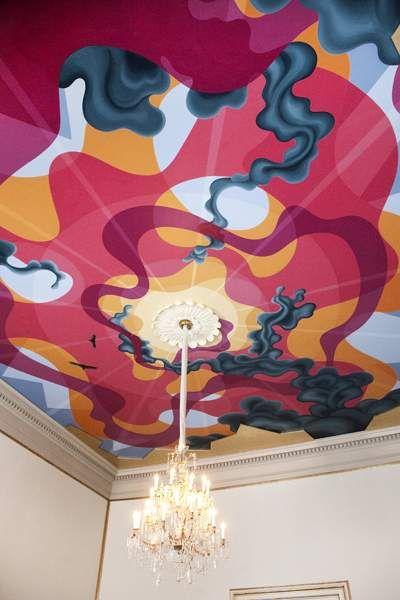 Eske Kath, painted ceiling, Frederik VIII Palæ, Amalienborg - Copenhagen