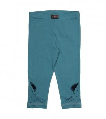 plain legging with frill detail. 93% cotton and 7% spandex excluding trims.