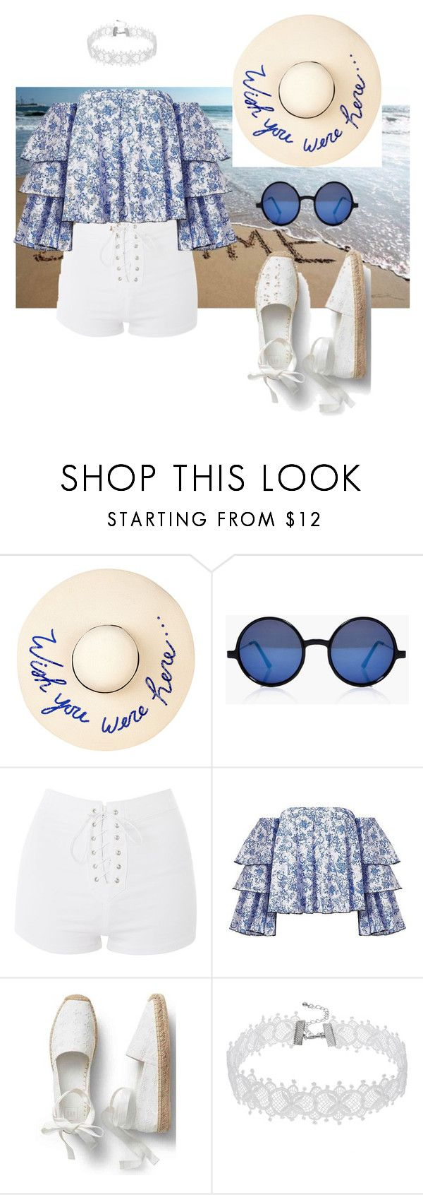 """""""194 - BLUE SUMMER (3)"""" by myriame-t on Polyvore featuring Eugenia Kim, Boohoo, Topshop and Caroline Constas"""