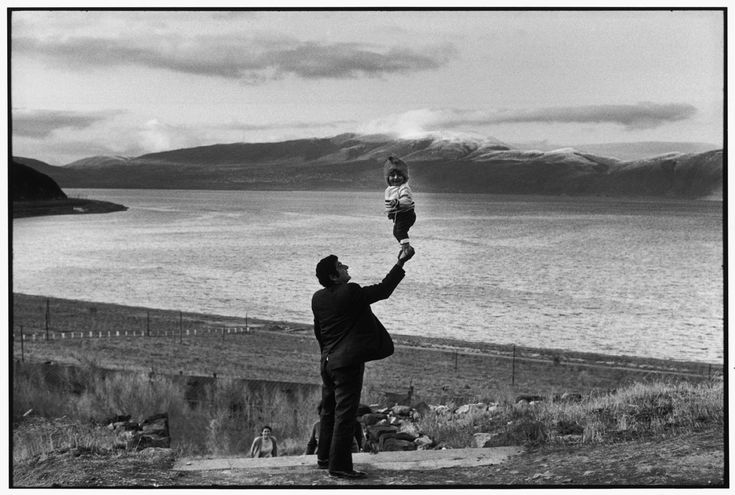 "Soviet Union. Armenia. 1972. Part of his exhibition ""Geometry of the Moment, 'Landscapes'"". ""To take a photograph is to align the head, the eye and the heart. It's a way of life. To take a photograph is to hold one's breath when all faculties converge in the face of fleeting reality"", Henri Cartier-Bresson."