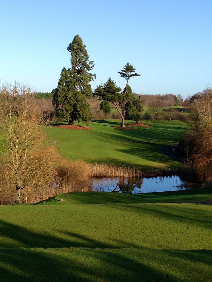 Beautiful scenery out on the 18 hole golf course at Ufford Park.