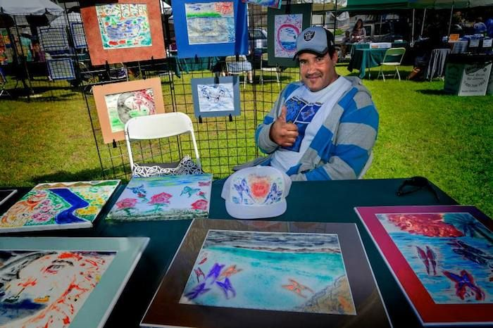 Kicking off Mental Health Awareness Week, local artists who are living with mental illness will showcase their beautifully crafted paintings, sculptures, jewelry and more at the 22nd Annual Mental Health Arts Festival on Saturday, October 3 from 11 a.m. to 4 p.m. at De La Guerra Plaza. http://sbseasons.com/2015/10/22nd-annual-mental-health-arts-festival/ #sbseasons #sb #santabarbara #MentalHealthArtsFestival #SBnonprofits #SBSeasonsMagazine To subscribe visit sbseasons.com/subscribe.html
