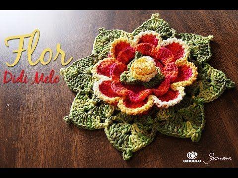 Flor em Crochê - Didi Melo - Professora Simone Eleotério - YouTube