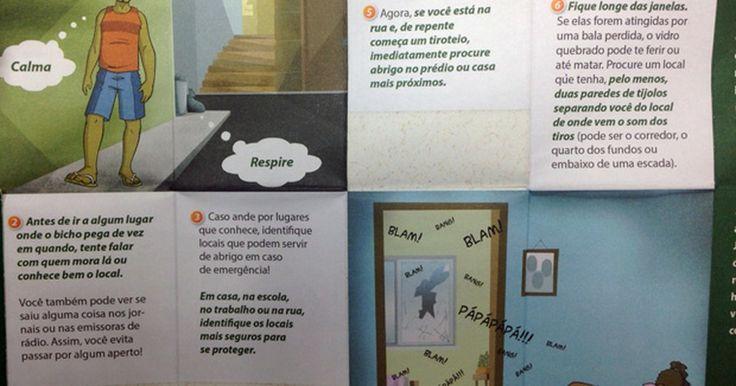 Cruz Vermelha dá panfleto em favelas com dicas de como agir em tiroteios