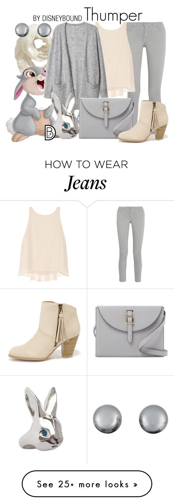 """Thumper"" by leslieakay on Polyvore featuring Old Navy, Thumper, dVb Victoria Beckham, Alice + Olivia, Meli Melo, Qupid, Lazy Oaf, Kenneth Jay Lane, disney and disneybound"