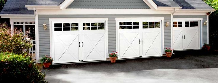 Ideal Doors custom crafted steel carriage house doors available at Menards.