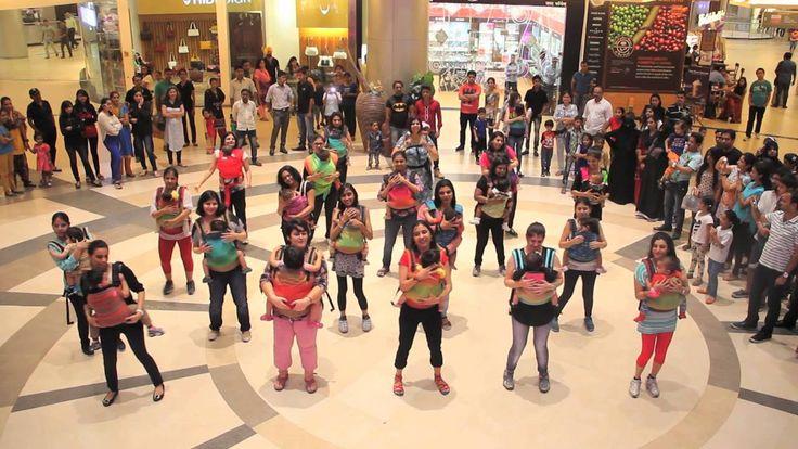 India's First Babywearing Flashmob