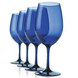 Plastic Cobalt Blue Wine Glasses Set Of 4 Cobalt Blue