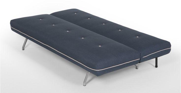 Miki, canapé convertible, bleu quartz | made.com