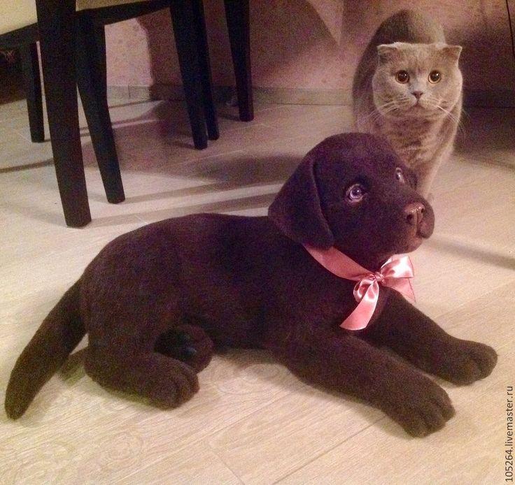 Купить Щенок лабрадора - коричневый, щенок, собачка, лабрадор, авторская ручная работа