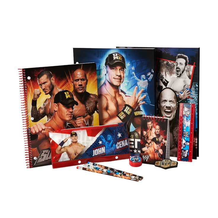 This is the essential stationary for all WWE fans! Take the WWE Superstars to school and become the superstar of your class!