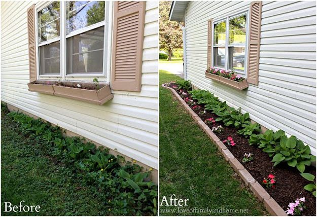Before and After Side Yard Curb Appeal Makeover by DIY Ready at http://diyready.com/diy-ideas-home-improvement-on-a-budget/