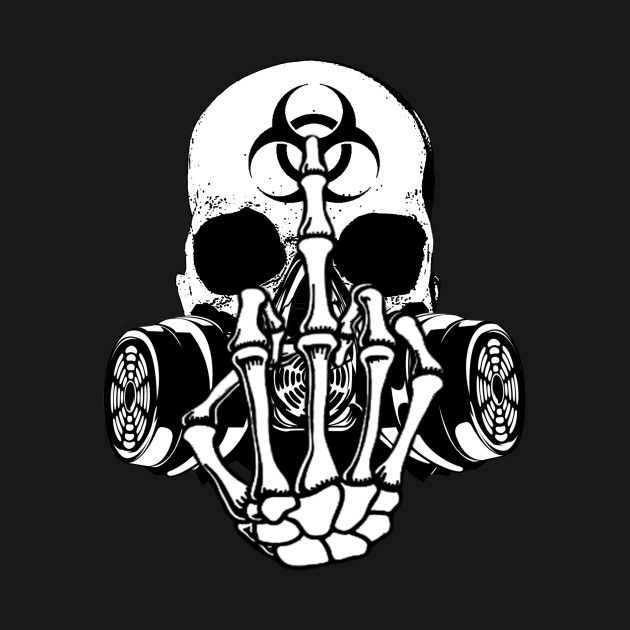 Check out this awesome 'Biohazard+Zombie+Skull+Fuck+U' design on @TeePublic!