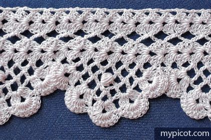 Alexandria Lace No. 73 Crochet Edging Tutorial - (mypicot)