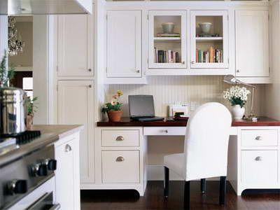 Taller Cabinets On One Side?? Kitchen Desk Ideas | Kitchen Entertainment  Design | Bathroom