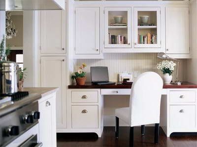 Taller Cabinets On One Side Kitchen Desk Ideas Kitchen Entertainment Design Bathroom