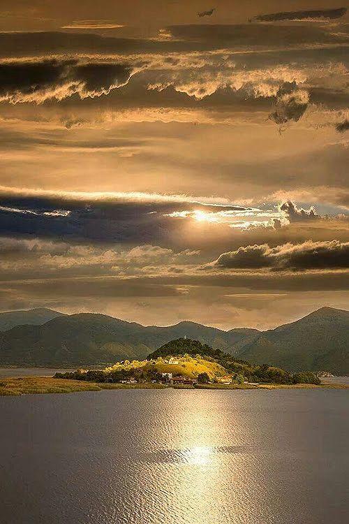 Mikri Prespa lake Macedonia Greece