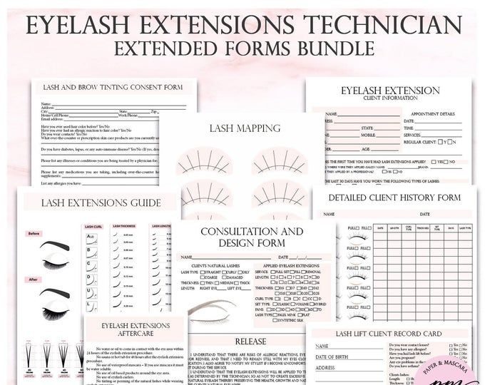 Eyelash Extensions Lash Business Kit After Care Client Etsy Eyelash Extensions Eyelash Extension Training Lash Extensions