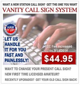 Overall Amateur radio vanity call signs get the