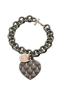 Ops! Objects náramek Matelassé Crystal šedý s růžovými kamínky - 968 Kč