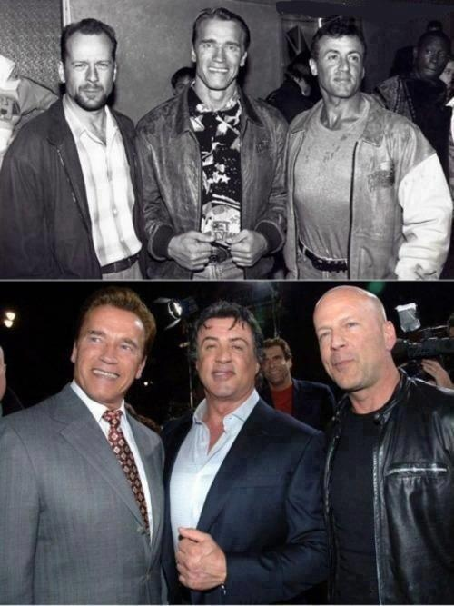 47 best great moviesactors images on pinterest books movie bruce willis arnold schwarzenegger sylvester stallone before and after ccuart Image collections