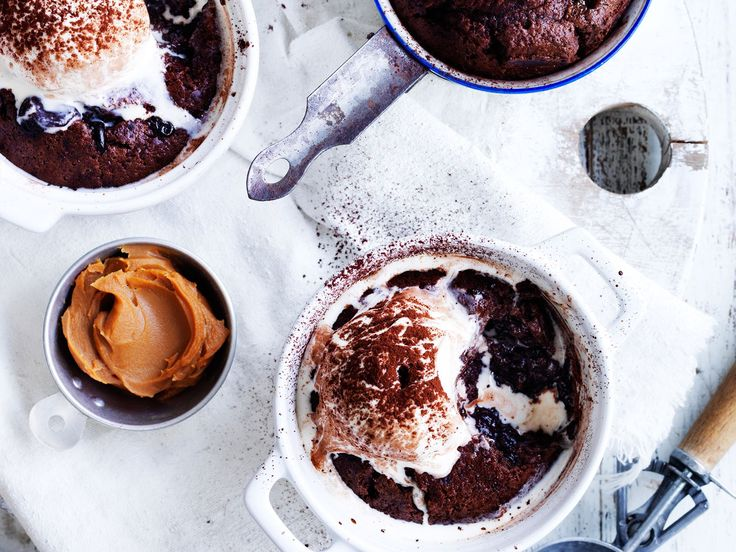 hese heavenly chocolate and dulce de leche puddings are the perfect way to end a meal! Sweet, rich, and easy to prepare - what more could you want!