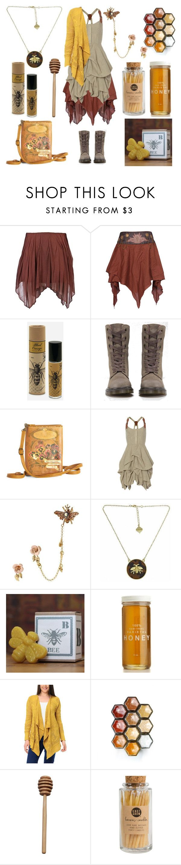 """""""The Beekeeper"""" by maggiehemlock ❤ liked on Polyvore featuring мода, Jen Kao, Skeem, Dr. Martens, Disaster Designs, AllSaints, Betsey Johnson и Fornash"""