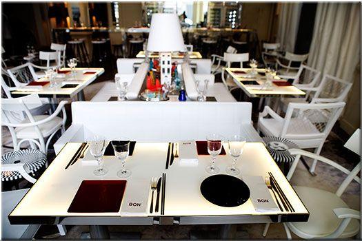 Restaurant BON Paris, vinothèque : cuisine gastronomique asiatique, design de Philippe Starck