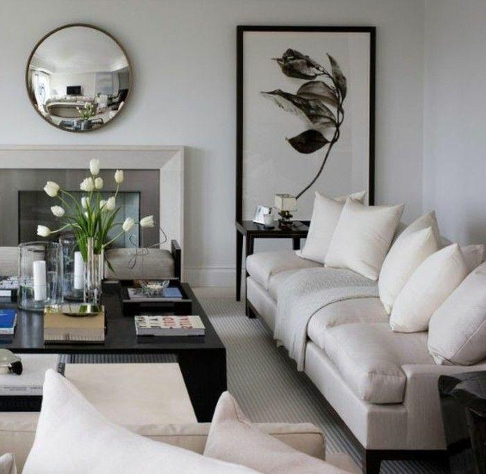 Einladendes Wohnzimmer dekorieren Ideen und Tipps Apartment - Wandgestaltung Wohnzimmer Grau Lila