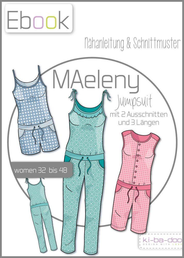 Ebook Jumpsuit MAeleny - Schnittmuster und Anleitung als PDF, versandkostenfrei