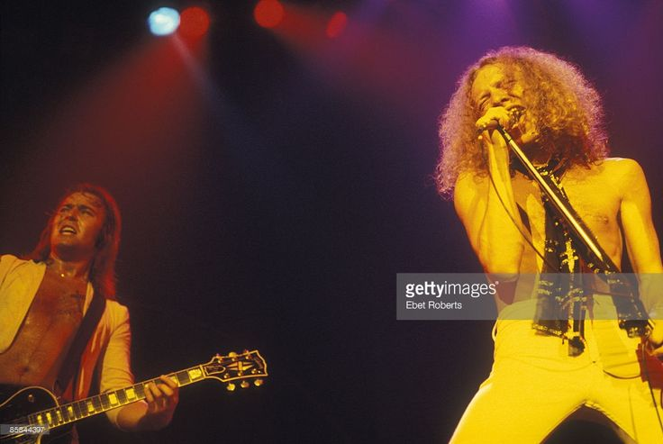 Lou GRAMM and Mick JONES and FOREIGNER;Capitol Theatre, Passaic, New Jersey, photo Ebet Roberts