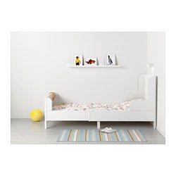 IKEA - BUSUNGE, Vokseseng, , Uttrekkbar, slik at sengen kan forlenges i takt med at barnet vokser.Ribber i massivt tre gir fast støtte.
