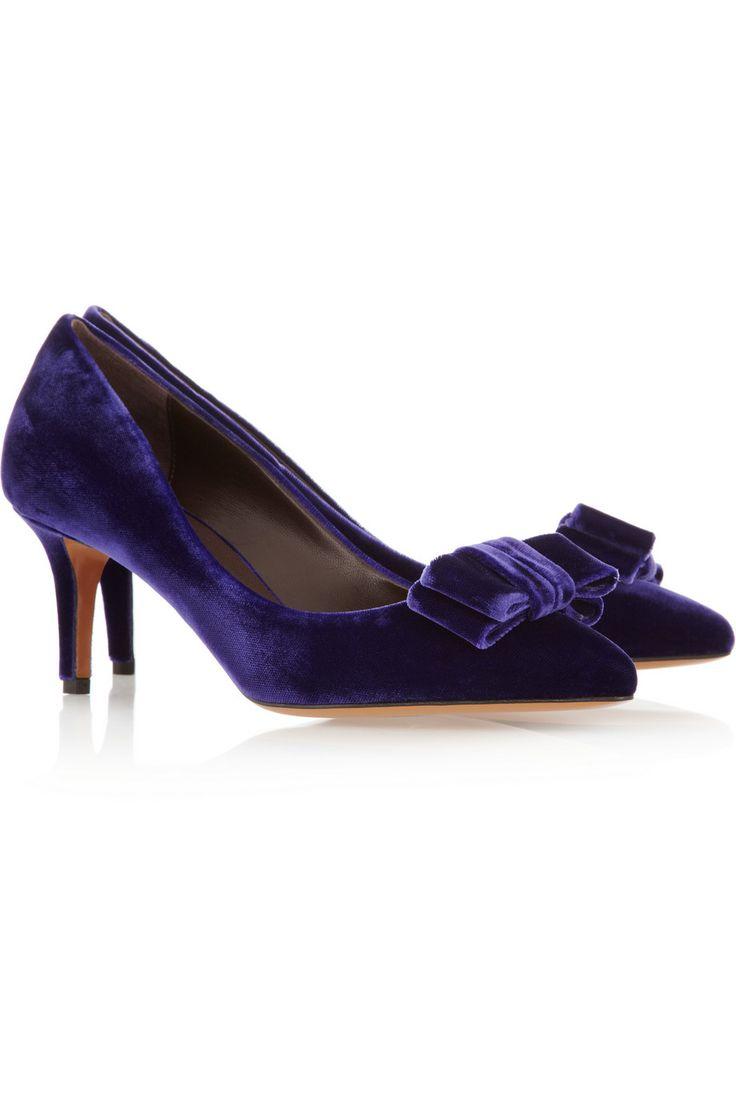 Halki bow-embellished velvet pumps | Bruno Magli | US | THE OUTNET