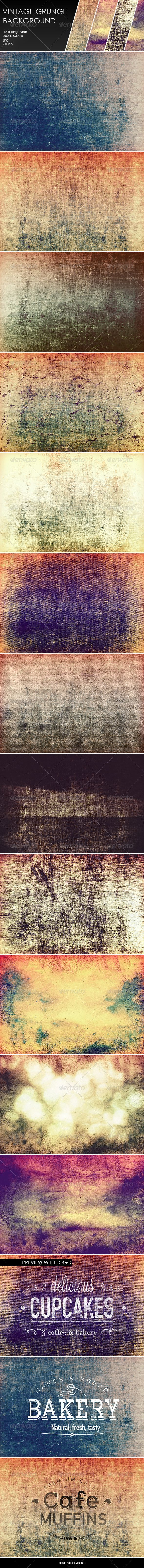 12 Vintage Grunge Backgrounds