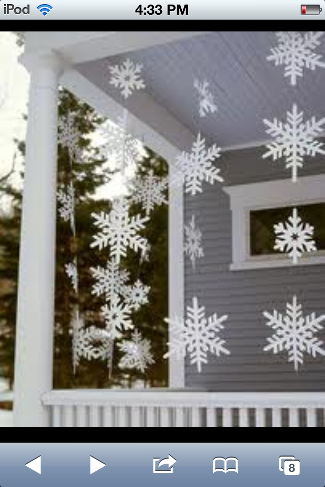 Christmas porch snowflakes!!