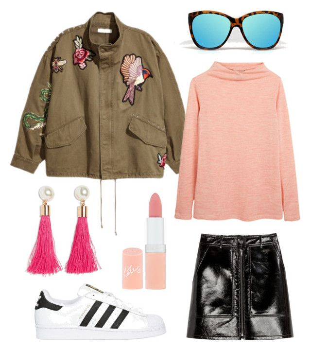 """""""Untitled #230"""" by stinasolheim on Polyvore featuring H&M, adidas Originals and Rimmel"""