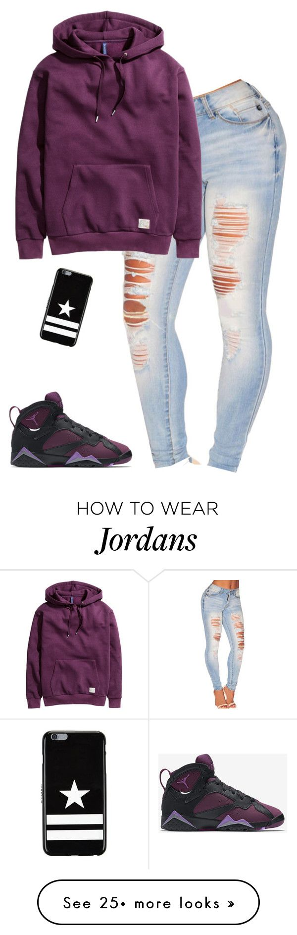 """Answerr"" by dopeoufits245 on Polyvore featuring NIKE, H&M and Givenchy"