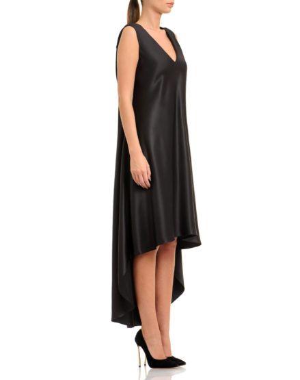 Silk Satin Asymmetric Dress #Silk #SilkSatin #Asymmetric #Dress