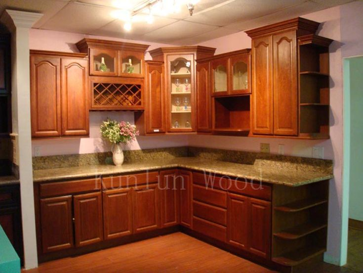 Fancy & elegant Walnut Kitchen Cabinets