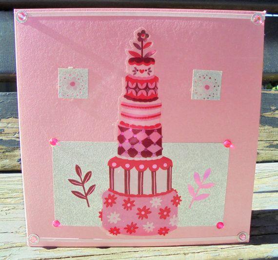 Pink Cake  handmade card FWB wedding card by RogueKissedCraft