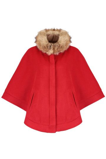 Red Cape with Removable Collar