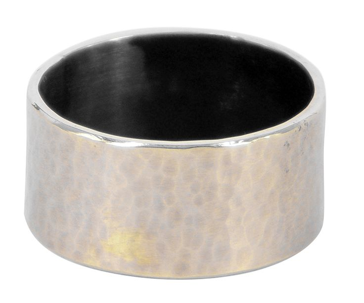 Earth ring in glass brushed gold & sterling silver