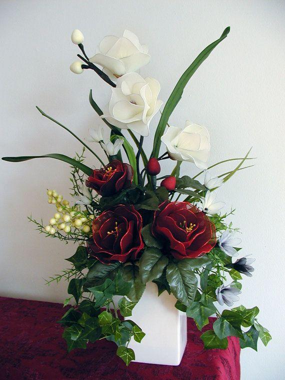 Handmade Nylon Flower Arrangement by LiYunFlora on Etsy, $40.00