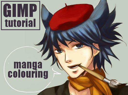 GIMP - manga style colouring