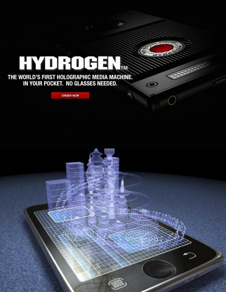 RED is making a Hydrogen One with a 'holographic display'. Click on image to read more.