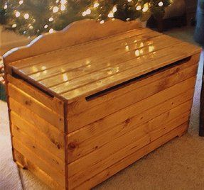 Click here to get woodworking plans to build this wonderful toy box.