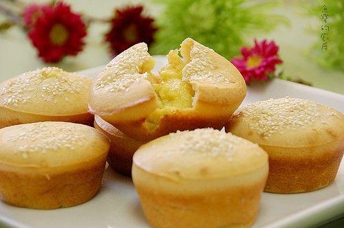 muffin con crema pasticcera