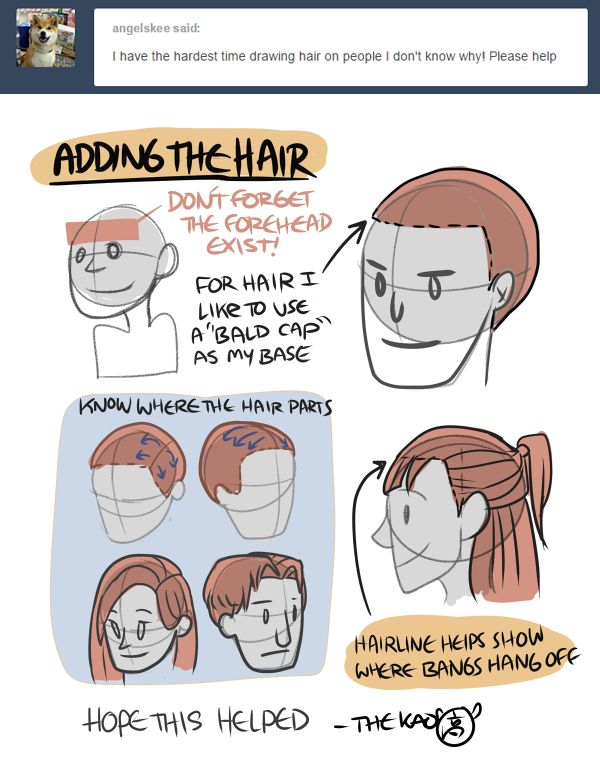 How to draw hair by thekao on tumblr