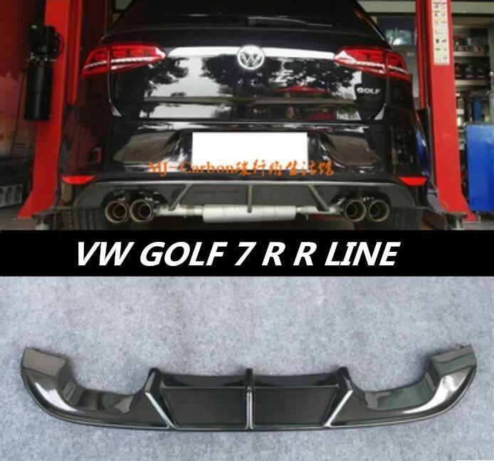 Jioyng Carbon Fiber Rear Bumper Lip Spoiler Diffuser Cover For Volkswagen Vw Golf 7 Mk7 Gti R Line Fast By Ems Yesterday S Vw Golf R Mk7 Golf R Mk7 Volkswagen